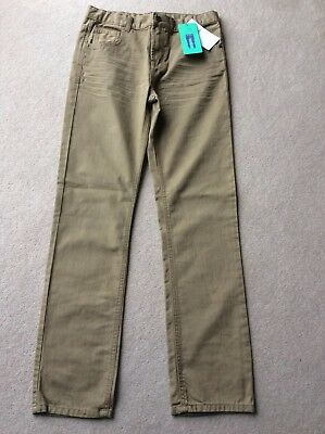 M&S Boys slim Jeans, caramel brown ~Age 13-14 years~ adjustable waist BNWT