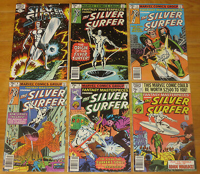 Lg 1979-91 SILVER SURFER Lot (11) BYRNE, FANTASY MASTERPIECES, MINI, 50 w/THANOS