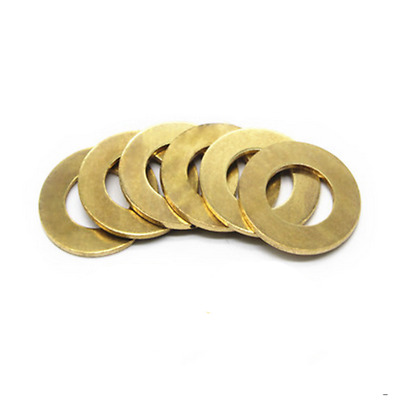 M3*6*0.5mm Flat Washers to Fit for Bolts & Screws Metric GB Solid Brass Washer