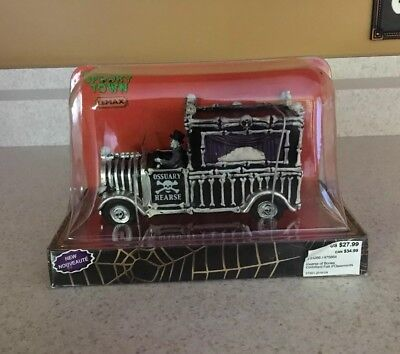 Lemax Spooky Town Halloween Table Accent, HEARSE OF BONES -  New in Box