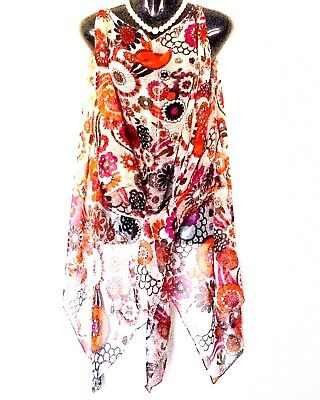 """Scarf Kaftans(open at sides) """"Chiffon viscose """" Worn tied in a variety of styles"""