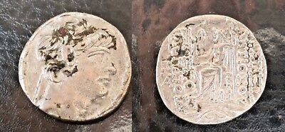 Seleukid Kingdom. Antiochos X. 94 or 93 BC. AR Tetradrachm 14.77gm.