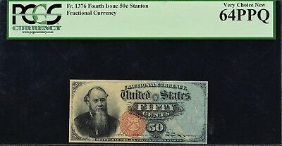 Fr. 1376 Fourth Issue 50c Stanton Fractional Currency PCGS VCN64 PPQ