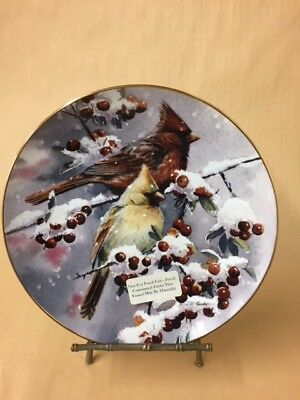 Winter Jewels Cardinals - Collector Plate by Susan Bourdet