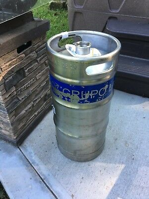 1/4 Barrel Empty Tall Skinny Pony Size Stainless Steel Beer Keg