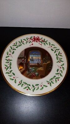 LENOX 19th Annual Holiday Collector Plate 2009 MINT No Box LQQK