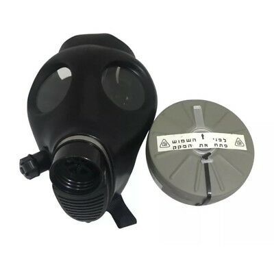 Israeli Respirator Gas Mask w/Genuine Military  40mm NATO Filter NBC - NEW