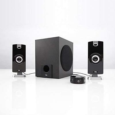 Subwoofer 2.1 Speaker System 18W of Power Music, Movies, Gaming Multimedia