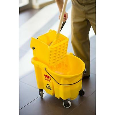 Rubbermaid Commercial Products WaveBrake Plastic Mop Bucket with Wringer 35 Qt