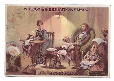Willcox & Gibbs New Automatic Sewing Machine Victorian Trade  Card