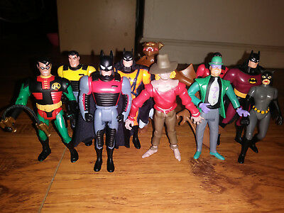 Lot of 10 Batman TAS Kenner Action Figures 1993 The Animated Series DC Vintage