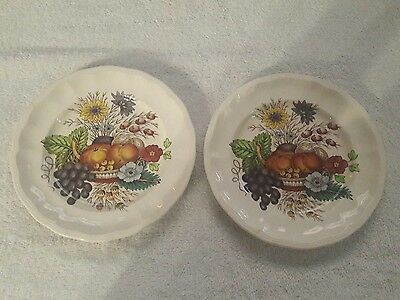 Set of 2 SPODE COPELAND REYNOLDS BREAD BUTTER DESSERT PLATES 6 3/4""