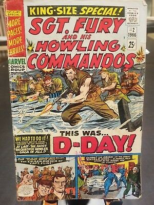 Sgt. Fury Annual #2 (1966, Marvel Comics Group) Roy Thomas story, Ayers cover