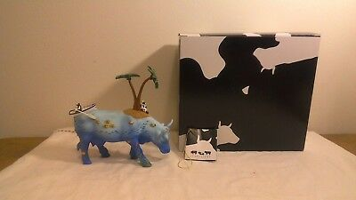 Cow Parade Figurine~NO COW IS AN ISLAND~Style #7707~Box & Tag Excellent Cond