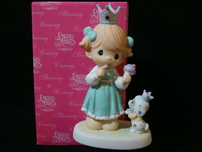 Precious Moments-Princess w/Crown/Jewel/Dog-LE/10,000