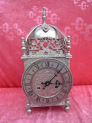Beautiful, Antique Fireplace Clock __ Metal __ 35cm, 4kg__Schmid__ Watch __