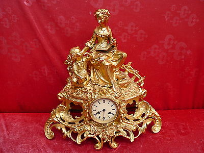 Beautiful, Old, Large Mantel Clock __ Pendule __48cm__ Pontonie & Cs __ Paris