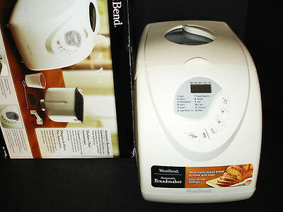 WEST BEND #41400 PROGRAMABLE AUTOMATIC BREAD MAKER MACHINE IN BOX 1 1-1/2 2lb