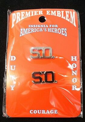 New Security Officer S.O. Silver Lapel Pins FREE Shipping!
