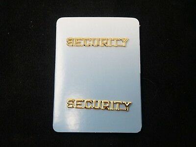 "New Security Officer ""Security"" Gold Lapel Pins FREE Shipping!"