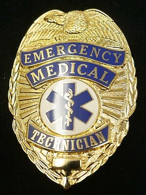 PB1800 EMT Badge Gold Color Real Deal. Heavy Duty! FREE Shipping!