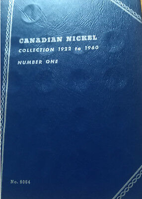 Set of Canada Five Cents (1922-1960) BETTER GRADE Coins In Whitman Folder (SF19)