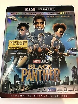 Marvel Black Panther 4k (2018). NO BLU RAY, OR DIGITAL