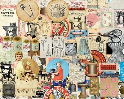 100 Vintage Ephemera Paper Sewing Die-Cuts Scrapbook Kits Journal Diary Card