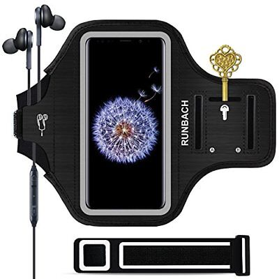 Galaxy S9 Plus ArmbandRUNBACH Sweatproof Running Exercise Gym Cellphone Black