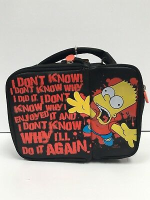 The Simpsons Bart Lunch Insulated Cooler Bag Brand New