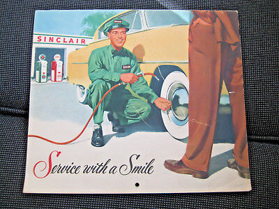 Vintage 1955 SINCLAIR OIL 12 mo. calendar - great collectible, great condition!