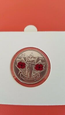 Candanian 25 cent 2010 Red Poppy Remember souvenir coin