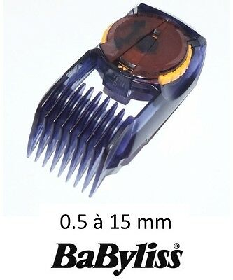 BABYLISS 35808400 SABOT 0.5 - 15 mm Guide coupe tondeuse peigne barbe E842XE