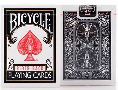 Bicycle Rider Back Playing Cards.**BLACK** QTY:1 Pack New Sealed.