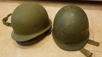 M1 Military Helmets Signed Uncle Bubber lot of 2