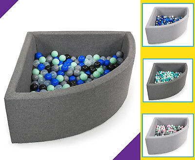 New Tweepsy Baby Play Ball Pit Foam Pool with 250 Non-Toxic Balls -∅7cm- 90x40cm