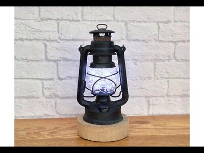 Upcycled Vintage Rustic Hurricane Storm  Lantern Table Lamp