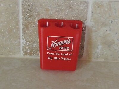 """Vintage Hamm's Beer """"From the Land of Sky Blue Waters"""" Red PencilPen Holder"""