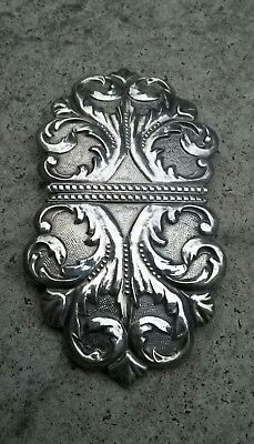 Vintage  Solid Silver Nurses Belt  Buckle 1971 E Scott & Co Birmingham