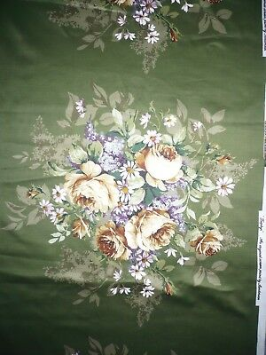 Vintage Sanderson Fabric Zephyr 68cm long Glazed Cotton Chintz Floral NEW!