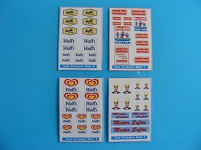 Walls/lyons Maid/mister Softee Ice Cream Sticker Set Series 1 – 4 Mini Sheets
