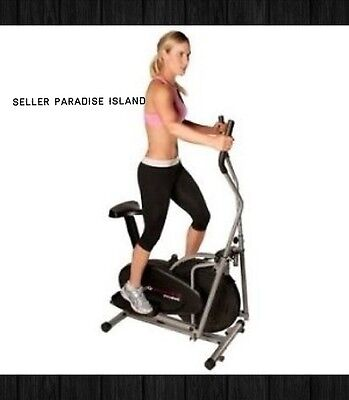 2 in 1 Elliptical Cross trainer Cardio Exercise Fitness Stair Step Gym Machine
