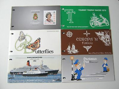 6 Isle Of Man Presentation Packs - Mint Stamps - 1975 to 1994 (16)