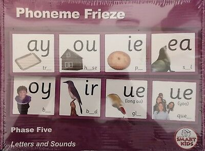 Phonics cards - Letters and Sounds - phoneme frieze - Phase Five