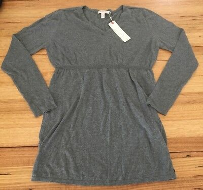 Maternity Clothes - Grey Light Weight Jumper / Cotton Knit Top - Esprit - BNWT