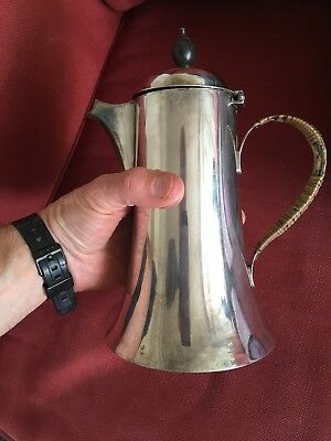 Hukin Heath Silver Plated Art Nouveau Coffee Cocoa Pot Christopher Dresser