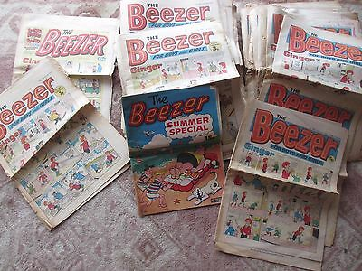 Beezer Comics x 73 in total  1972  1973 1974 1975 1976 plus summer special