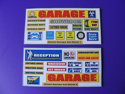 MODEL GARAGE SET of STICKERS SHEETS 1 & 2