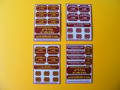 David Rowland Fun Fair Stickers – 4 Mini Sheets