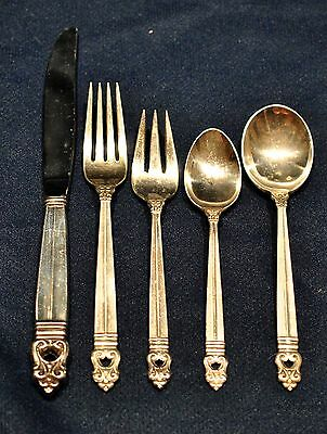 Royal Danish Sterling Silver Flatware Set For 8 By 5  Free Shipping New Box